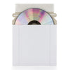 SuperMediaStore 5 1/4 x 5 1/4 Inch CD/DVD White Cardboard Mailer With Flap & Seal 25 Pack