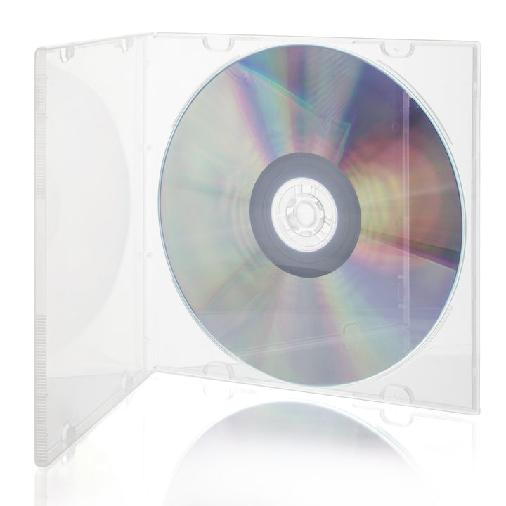 SuperMediaStore 5.2mm Slim PP Poly Single Clear CD DVD Cases without Outer Sleeves - 200  sc 1 st  Supermediastore.com & SuperMediaStore 5.2mm Single Clear PP Poly CD DVD Cases 200 Pack ...