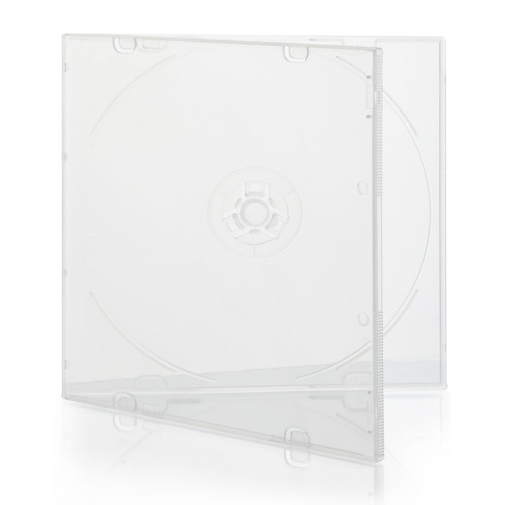 SuperMediaStore 5.2mm Slim PP Poly Single Clear CD DVD Cases without Outer Sleeves - 200 Pack