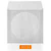 LINKYO 85 Gram White Single Clear Window CD DVD Paper Sleeves - 100 Pack