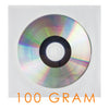 LINKYO 100 Gram Automated Packaging Grade White Clear Window CD DVD Sleeves - 1000 Pack
