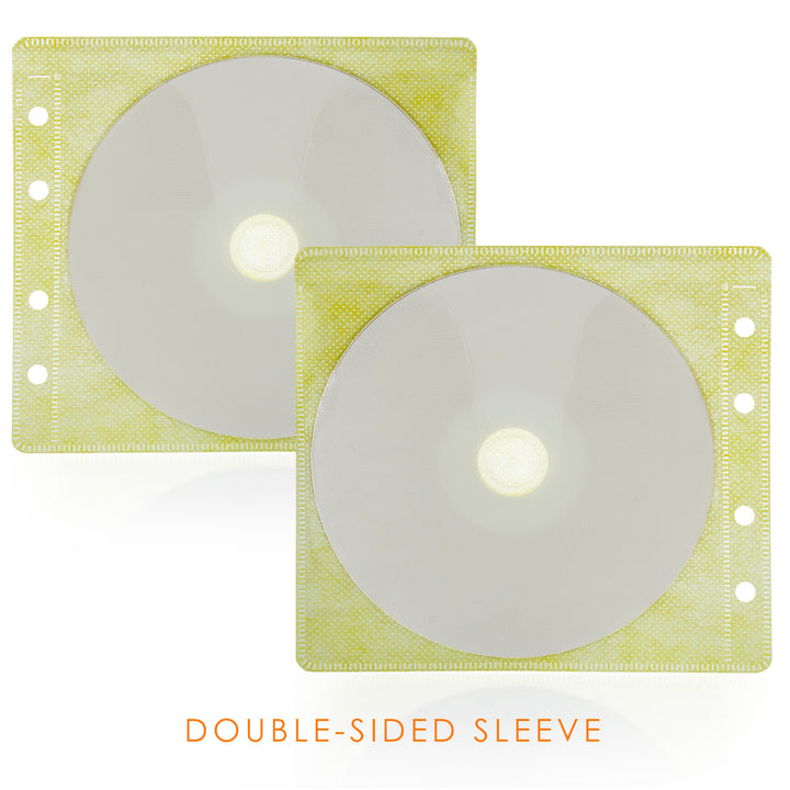 SuperMediaStore CD Double-sided Assorted Color Refill Sleeve holds 2 Discs 100 Pack