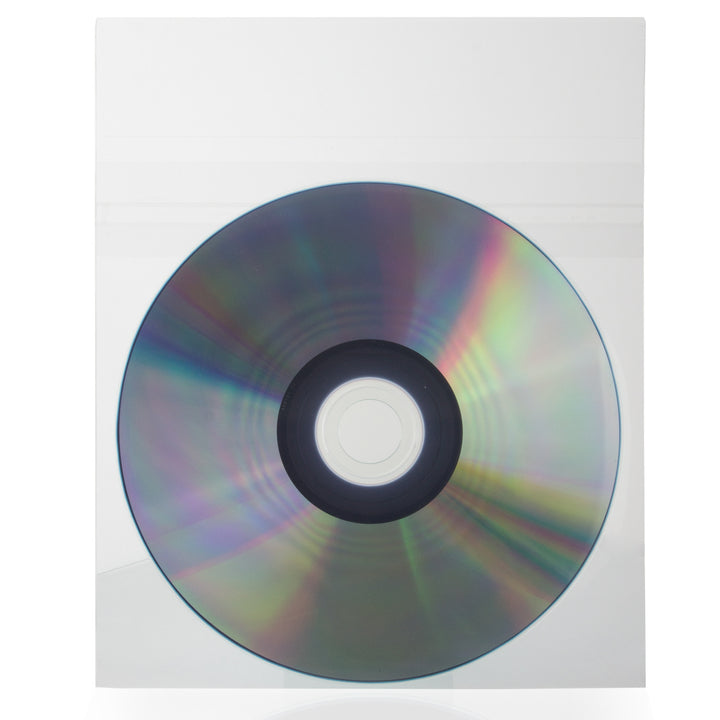SuperMediaStore Resealable Polypropylene (CPP) Clear Plastic CD DVD Sleeves 50 Pack