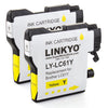 LINKYO Replacement 8-Color Ink Set for Brother LC61 (2x Black, 2x Cyan, 2x Magenta, 2x Yellow)