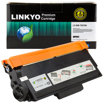 LINKYO Replacement Black Toner Cartridge for Brother TN750