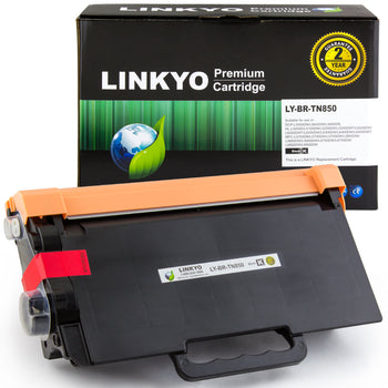 LINKYO Compatible Toner Cartridge Replacement for Brother TN850 TN-850 TN820 (Black, High Yield)