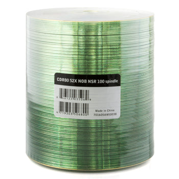 Ritek Ridata Shiny Silver 52X CD-R Media 700MB 100 Pack in Plastic Wrap (R80JS52-NOB100N)