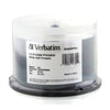 Verbatim DataLifePlus White Inkjet Hub Printable 52X CD-R Media 700MB 50 Pack in Cake Box (94755)