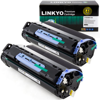 LINKYO Replacement Black Toner Cartridge for Canon 106 (Black, 2-Pack)