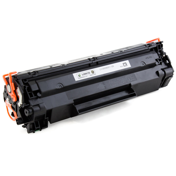 LINKYO Replacement Toner Cartridge for Canon 128 (Black, 2-Pack)