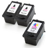 LINKYO Replacement 3-Color Ink Cartridge Set for Canon PG-210XL and CL-211XL (2x Black, Color)