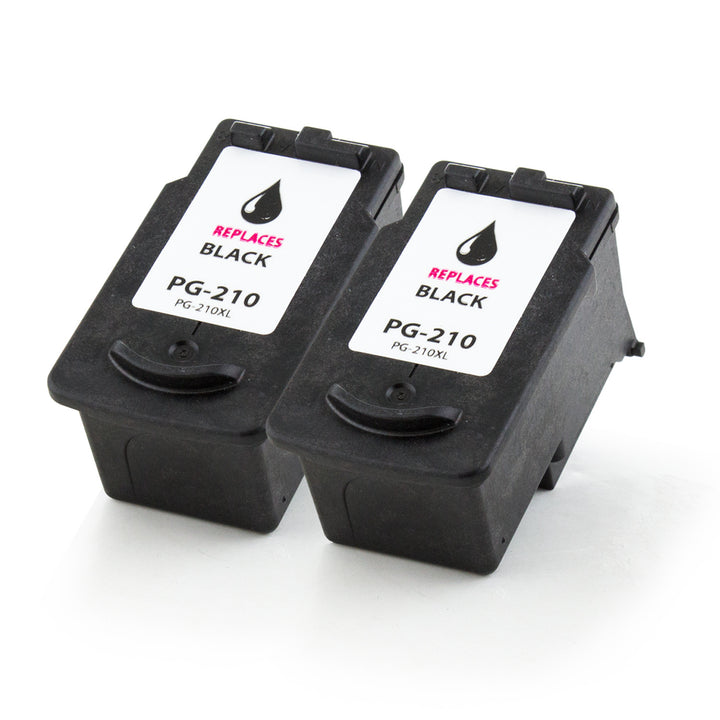 LINKYO Replacement 3-Color Ink Set for Canon PG-210XL and CL-211XL (2x Black, Color)