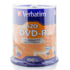 Verbatim Branded 16X DVD-R Media 100 Pack in Cake Box (95102)