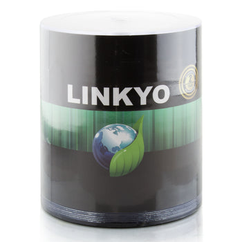 LINKYO 16X DVD-R White Inkjet Metalized Hub Printable Media - 100 Pack