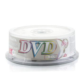 Ritek Ridata DVD-R DL (Dual Layer) White Inkjet Printable 4X Media 8.5GB 25 Pack in Cake Box (DRD-85-RDIW-CB25)
