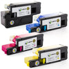 LINKYO Replacement 4-Color Toner Set for Dell 1250, 1350, 1355, C1760, C1765 (Black, Cyan, Magenta, Yellow)