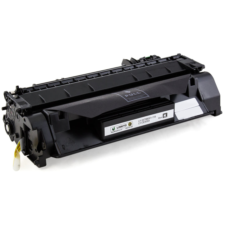 LINKYO Replacement Black Toner Cartridge for HP 05A CE505A
