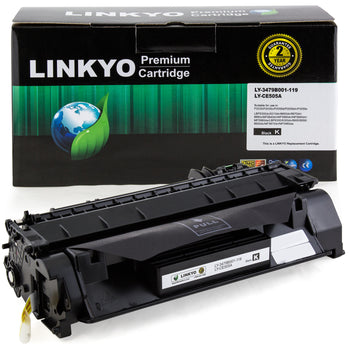 LINKYO Replacement Toner Cartridge for HP 05A CE505A (Black)