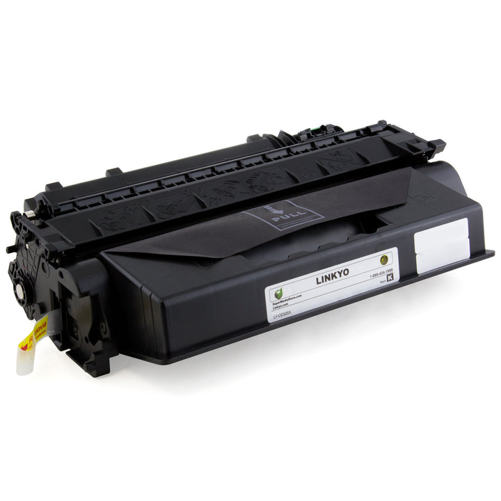 LINKYO Replacement Black Toner Cartridge for HP 05X CE505X