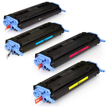 LINKYO Replacement 4-Color Toner Set for HP 124A (Black, Cyan, Magenta, Yellow)