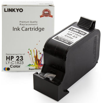LINKYO Replacement Tri-Color Ink Cartridge for HP 23