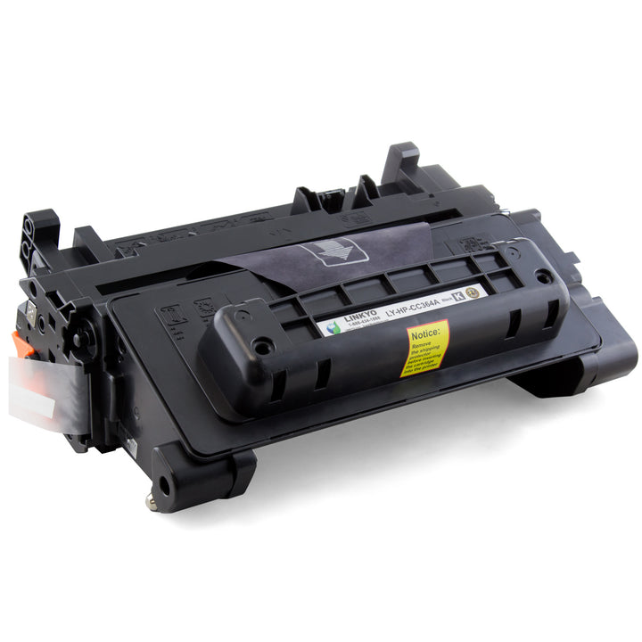 LINKYO Replacement Black Toner Cartridge for HP 64A CC364A