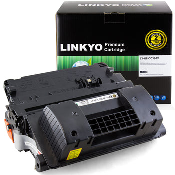 LINKYO Replacement Black Toner Cartridge for HP 64X CC364X (High Yield)