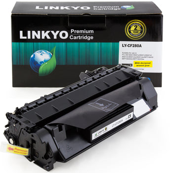 LINKYO Replacement Toner Cartridge for HP 80A CF280A (Black)