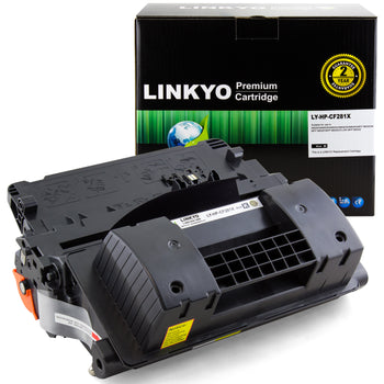 LINKYO Replacement Toner Cartridge for HP 81X CF281X (Black, High Yield)