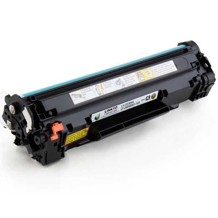 LINKYO Replacement Toner Cartridge for HP 85A CE285A (Black, 2-Pack)