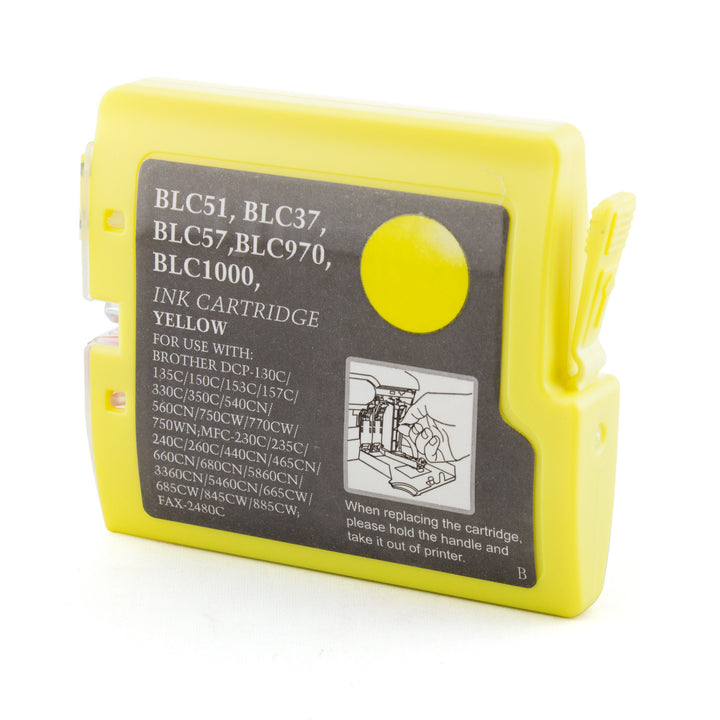 LINKYO Replacement Yellow Ink Cartridge for Brother LC51Y