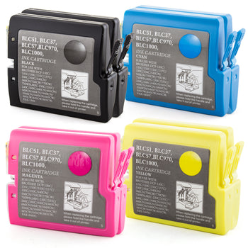 LINKYO Replacement 8-Color Ink Set for Brother LC51 (2x Black, 2x Cyan, 2x Magenta, 2x Yellow)