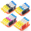 LINKYO Replacement 12-Color Ink Cartridge Set for Canon CLI-8 Ink Cartridges (3x Black, 3x Cyan, 3x Magenta, 3x Yellow)