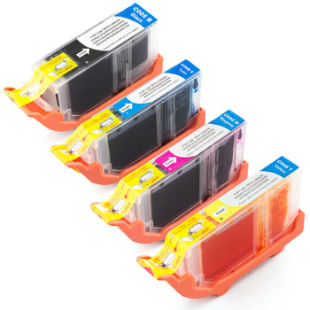 LINKYO Replacement 4-Color Ink Cartridge Set for Canon PGI-5 CLI-8 (PGI Black, Cyan, Magenta, Yellow)