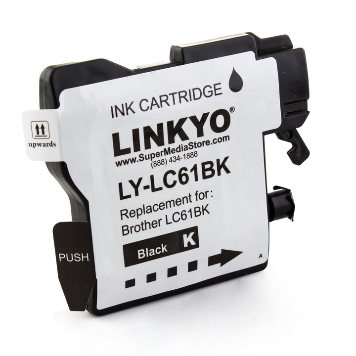 LINKYO Replacement Black Ink Cartridge for Brother LC61BK
