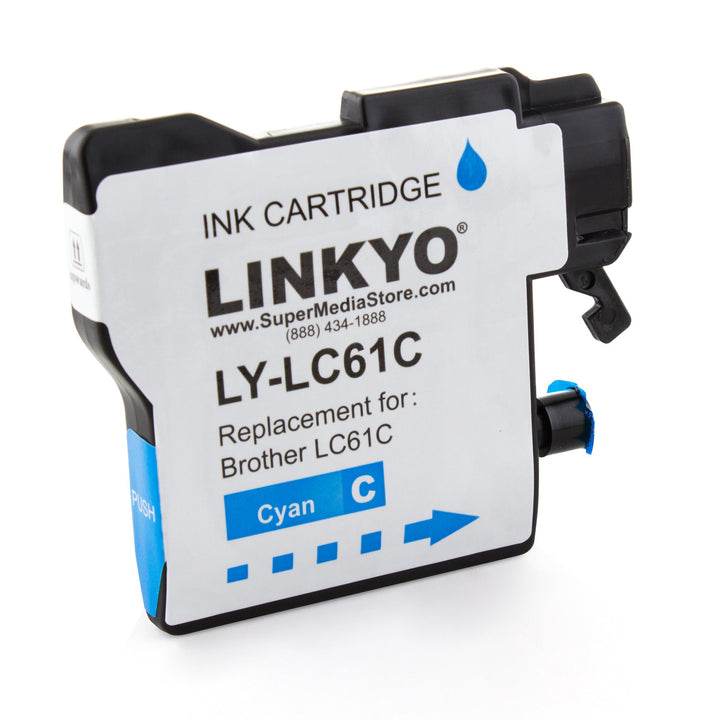 LINKYO Replacement Cyan Ink Cartridge for Brother LC61C