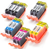 LINKYO Replacement 10-Color Ink Set for Canon PGI-220 CLI-221 (2x PGI Black, 2x CLI Black, 2x Cyan, 2x Magenta, 2x Yellow)