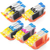 LINKYO Replacement 10-Color Ink Cartridge Set for Canon PGI-5 CLI-8 (2x PGI Black, 2x CLI Black, 2x Cyan, 2x Magenta, 2x Yellow)
