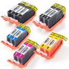 LINKYO Replacement 10-Color Ink Cartridge Set for Canon PGI-225 CLI-226 (2x PGI Black, 2x CLI Black, 2x Cyan, 2x Magenta, 2x Yellow)