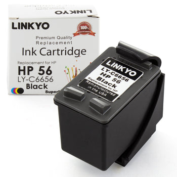 LINKYO Replacement Black Ink Cartridge for HP 56