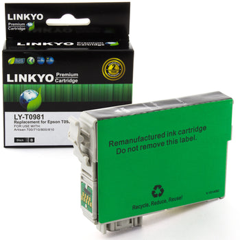 LINKYO Replacement Black Ink Cartridge for Epson 98 (T098120)