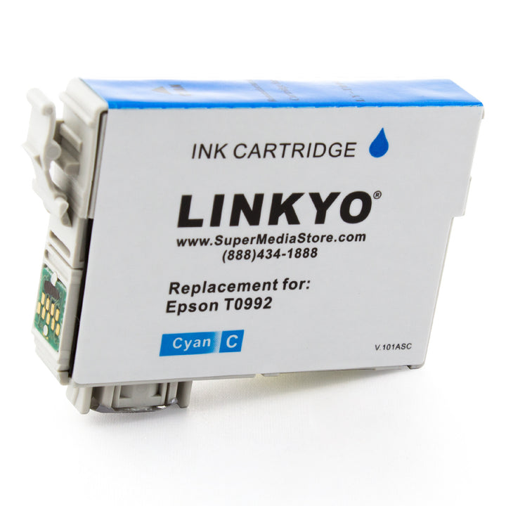 LINKYO Replacement Cyan Ink Cartridge for Epson 99 (T099220)   Save