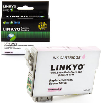 LINKYO Replacement Light Magenta Ink Cartridge for Epson 99 (T099620)