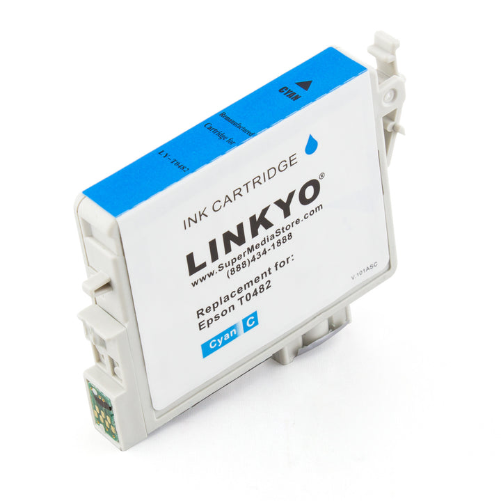 LINKYO Replacement Cyan Ink Cartridge for Epson 48 (T048220)