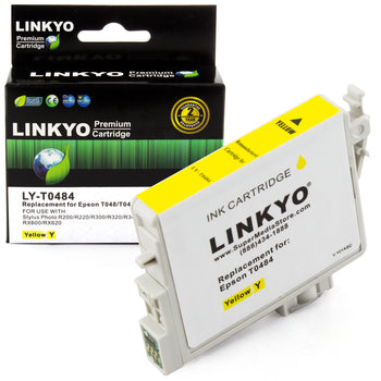 LINKYO Replacement Yellow Ink Cartridge for Epson 48 (T048420)