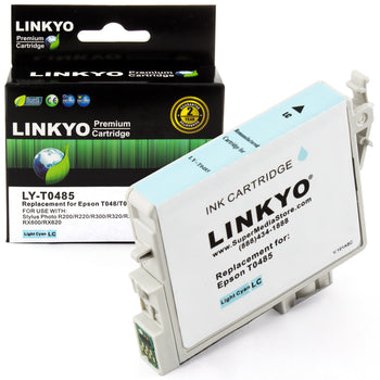LINKYO Replacement Light Cyan Ink Cartridge for Epson 48 (T048520)