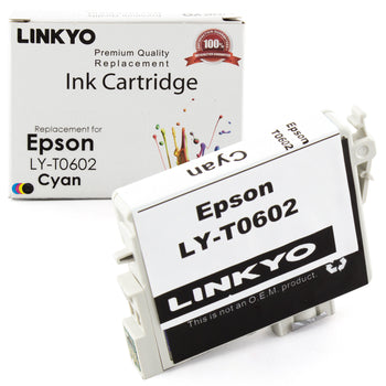 LINKYO Replacement Cyan Ink Cartridge for Epson 60 (T060220)