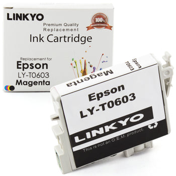 LINKYO Replacement Magenta Ink Cartridge for Epson 60 (T060320)