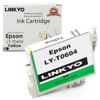 LINKYO Replacement Yellow Ink Cartridge for Epson 60 (T060420)