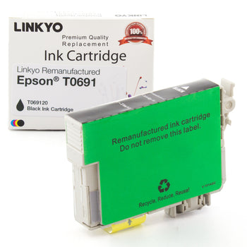 LINKYO Replacement Black Ink Cartridge for Epson 69 (T069120)
